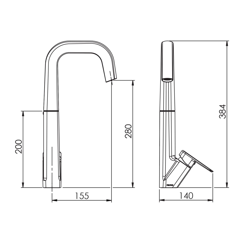 Plumbing World Kitchen Products Felton Axiss Sink Mixer